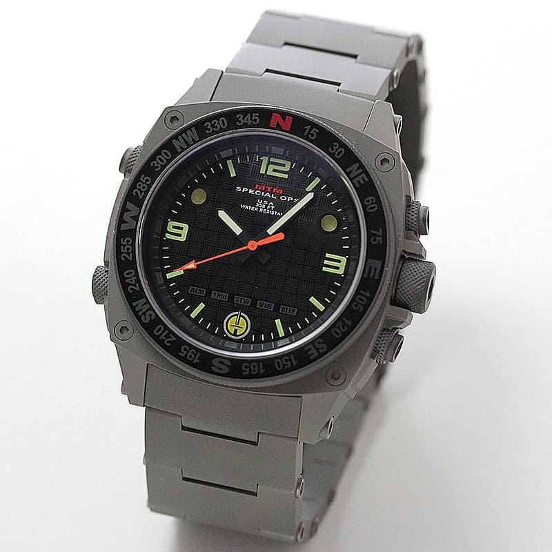 MTM Special Ops(スペシャルオプス)/SILENCER(サイレンサー)/SIL-SGR-BLCK-MBSS グレイ 腕時計