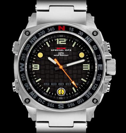 MTM Special Ops(スペシャルオプス)/SILENCER(サイレンサー)/SIL-SSL-BLCK-MBSS シルバー 腕時計