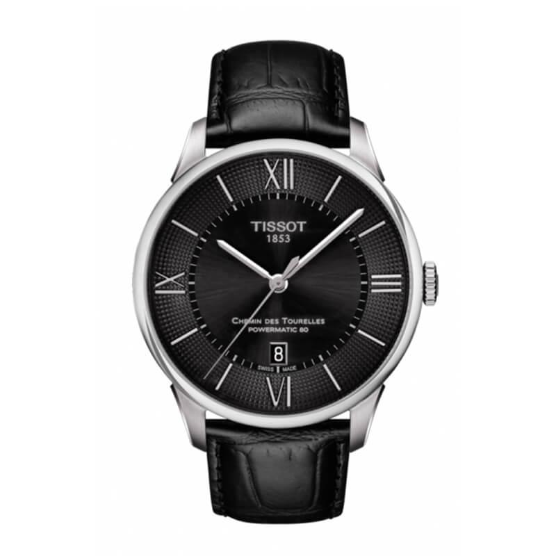 ティソ(TISSOT)シャミン・ド・トゥレル(CHEMIN DES TOURELLES AUTOMATIC GENT)T099.407.16.058.00 ブラック パワーマティック80 腕時計
