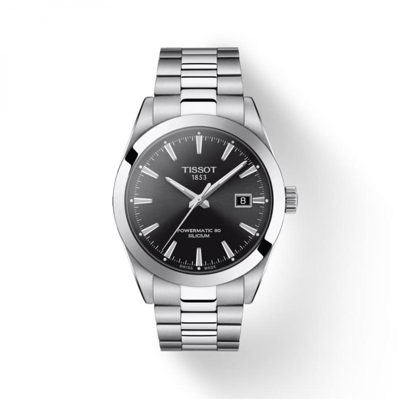 TISSOT(ティソ) Gentleman ジェントルマン オートマティック パワーマティック80 シリシウム 腕時計 ブラック T127.407.11.051.00