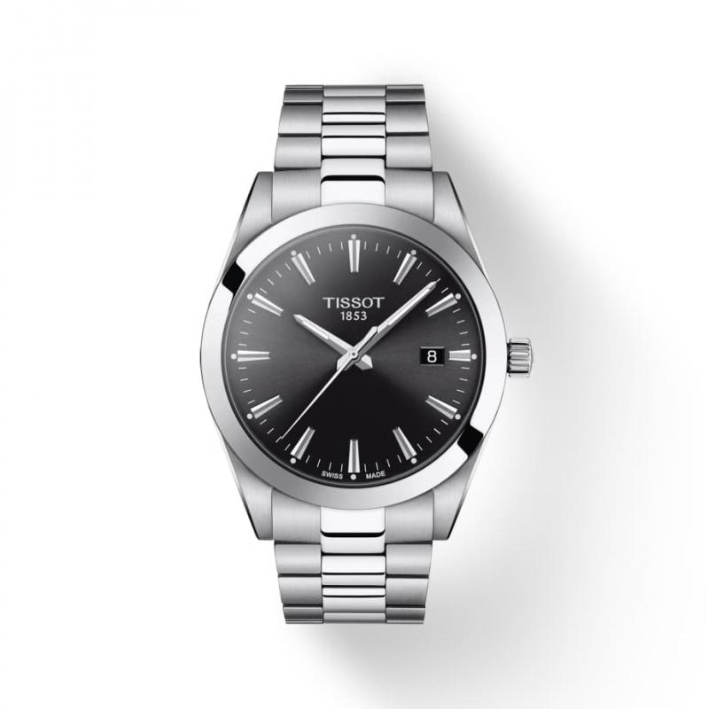 TISSOT(ティソ) Gentleman ジェントルマン クォーツ 腕時計 ブラック T127.410.11.051.00