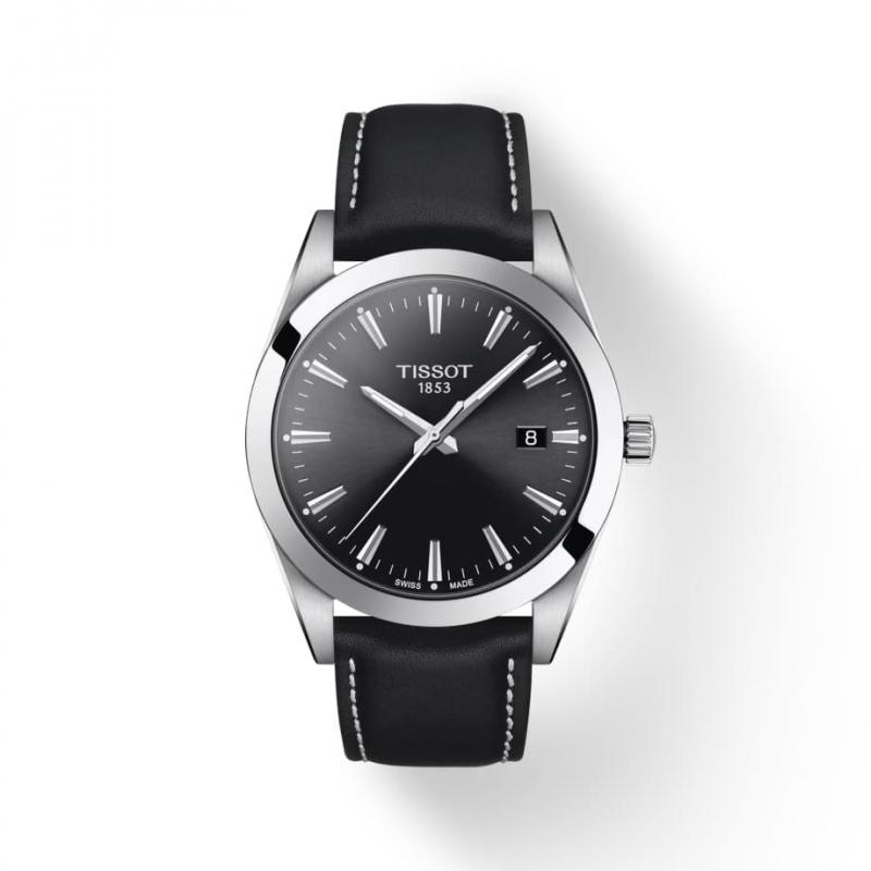 TISSOT(ティソ) Gentleman ジェントルマン クォーツ 腕時計 ブラック T127.410.16.051.00
