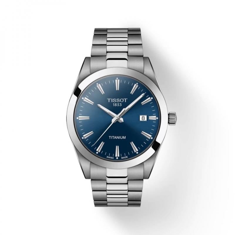 TISSOT(ティソ) Gentleman ジェントルマン クォーツ  チタン 腕時計 ブルー T127.410.11.051.00