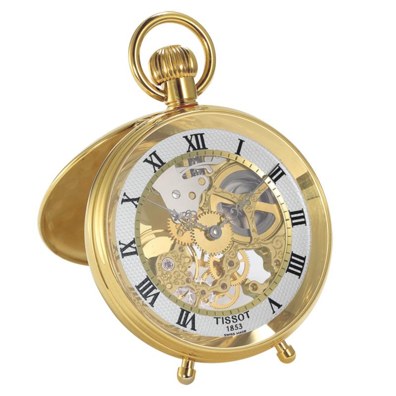 ティソ(TISSOT)スタンド付/スケルトン/T86.4.701.23 懐中時計