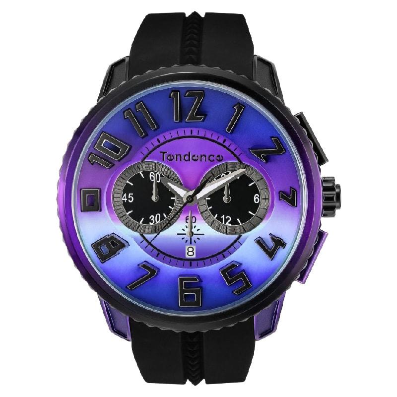 Tendence(テンデンス)De'Color(ディカラー) TY146103 オーロラカラー ブルー×パープル×ブラック/腕時計