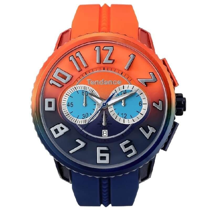 Tendence(テンデンス)De'Color(ディカラー) TY146104 サンセット(夕日)カラー オレンジ×ネイビー/腕時計