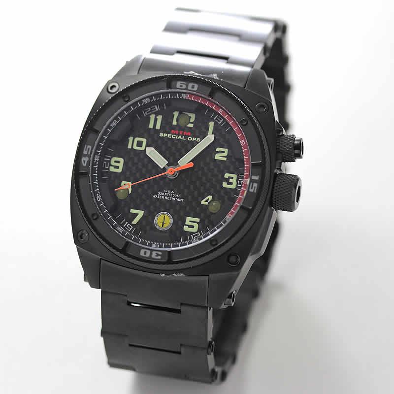 MTM スペシャルOPS ファルコンブラック TI001B チタニウム腕時計