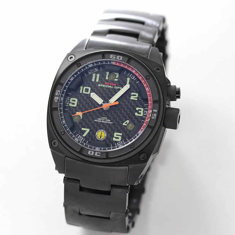 MTM スペシャルOPS ブラックファルコン TI088B ステンレス ブラック 腕時計