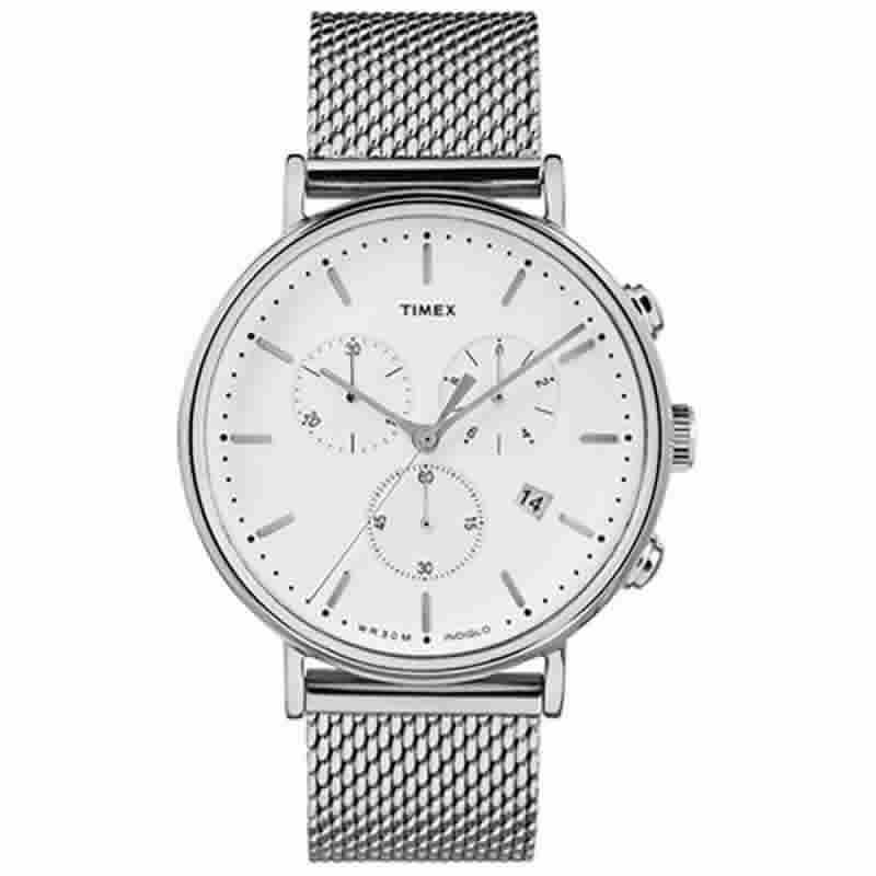 TIMEX(タイメックス)腕時計/タイメックス ウィークエンダーフェアフィールド クロノシルバーメッシュ TW2R27100