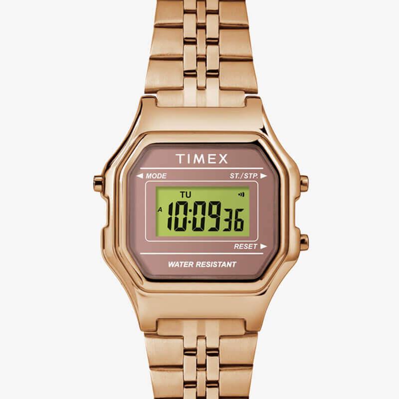 TIMEX(タイメックス) クラシック デジタル ミニ ローズゴールド ブレス TW2T48300 女性用 腕時計