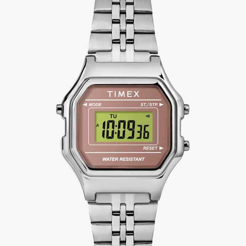 TIMEX(タイメックス) クラシック デジタル ミニ ピンク×シルバー ブレス TW2T48500 女性用 腕時計