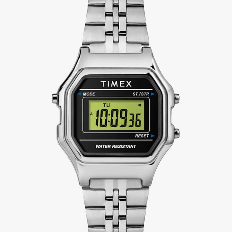 TIMEX(タイメックス) クラシック デジタル ミニ ブラック×シルバー ブレス TW2T48600 女性用 腕時計