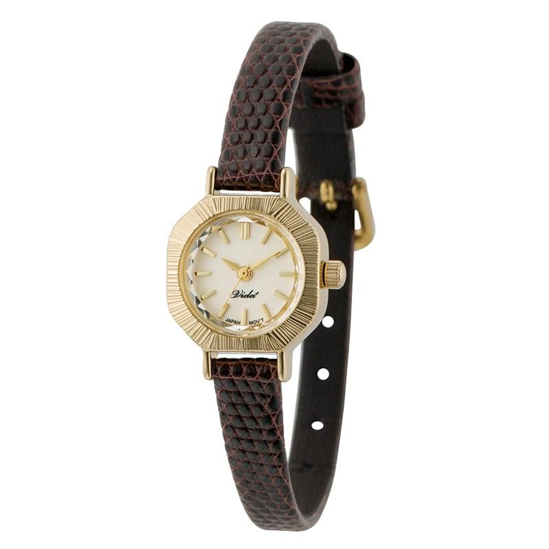 VIDA+ V Japan made V-004GI-DB ダークブラウン レディース 腕時計