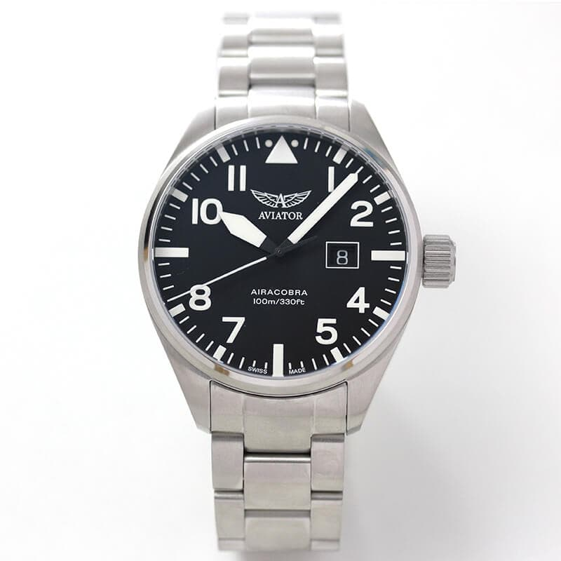 AVIATOR(アビエイター) AIRACOBRA(エアラコブラ) P42 パイロットウォッチ v1.22.0.148.5 クォーツ 腕時計