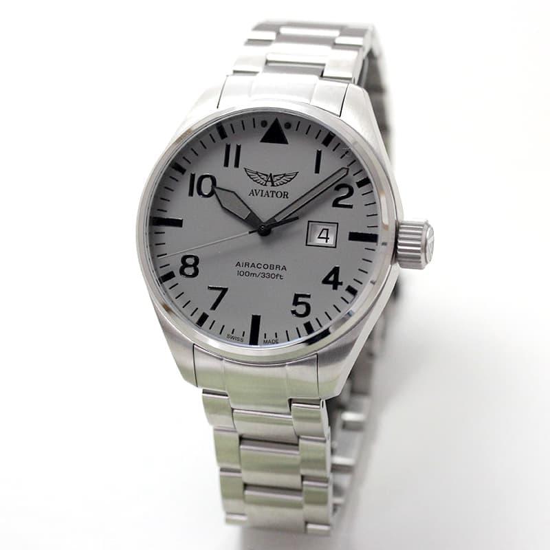 AVIATOR(アビエイター) AIRACOBRA(エアラコブラ) P42 パイロットウォッチ V.1.22.0.150.5 クォーツ 腕時計