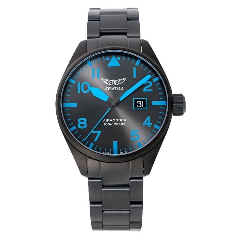 AVIATOR(アビエイター) AIRACOBRA(エアラコブラ) P42 パイロットウォッチ V.1.22.5.188.5 クォーツ 腕時計