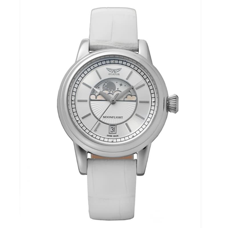 AVIATOR(アビエイター) MOONFLIGHT(ムーンフライト)V.1.33.0.250.4 ホワイト 腕時計