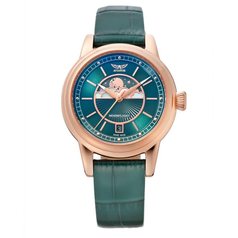 AVIATOR(アビエイター) MOONFLIGHT(ムーンフライト)DUSTY JADE Gold V.1.33.2.263.4 腕時計