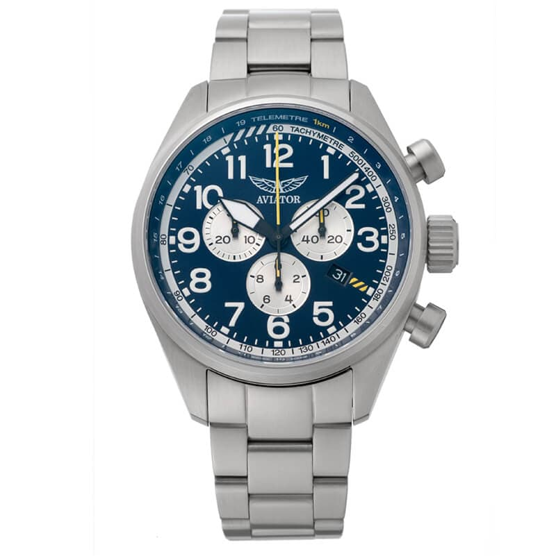 AVIATOR(アビエイター) AIRACOBRA(エアラコブラ) P45 クロノグラフ パイロットウォッチ V.2.25.0.170.5 クォーツ 腕時計