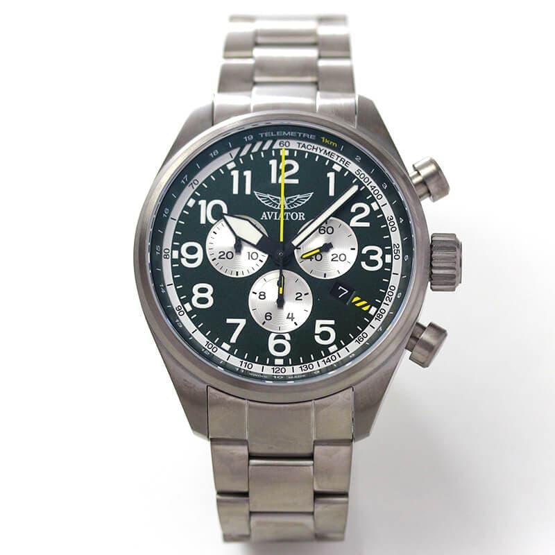 AVIATOR(アビエイター) AIRACOBRA(エアラコブラ) P45 クロノグラフ パイロットウォッチ V.2.25.7.171.5 クォーツ 腕時計