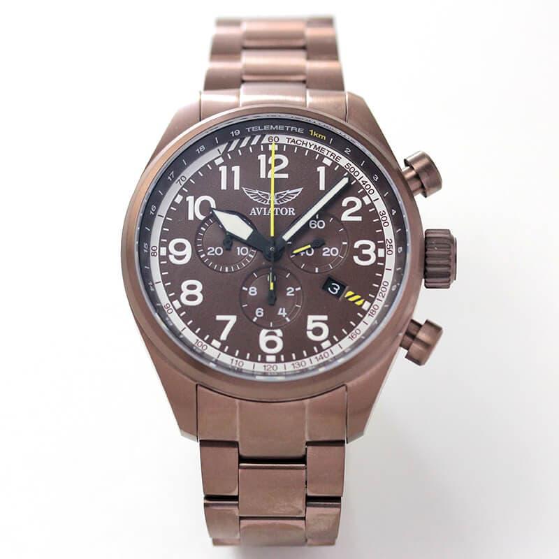 AVIATOR(アビエイター) AIRACOBRA(エアラコブラ) P45 クロノグラフ パイロットウォッチV.2.25.8.172.5 クォーツ 腕時計