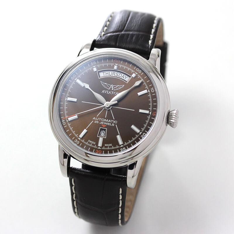 AVIATOR(アビエイター) DOUGLAS(ダグラス) デイデイト V.3.20.0.140.4 自動巻き 腕時計