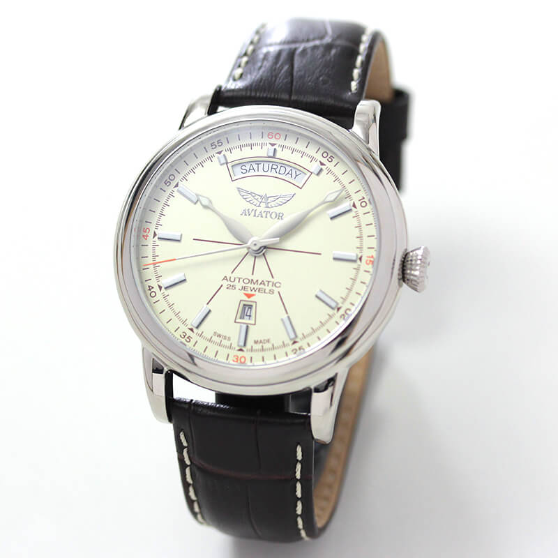 AVIATOR(アビエイター) DOUGLAS(ダグラス) デイデイト V.3.20.0.141.4 自動巻き 腕時計