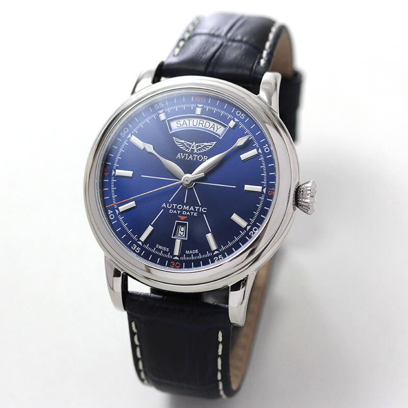 AVIATOR(アビエイター) DOUGLAS(ダグラス) デイデイト V.3.20.0.145.4 ブルーダイヤル 自動巻き 腕時計