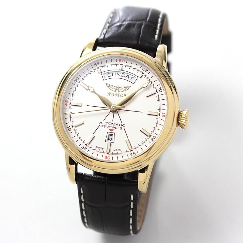 AVIATOR(アビエイター) DOUGLAS(ダグラス) デイデイト V.3.20.1.147.4 自動巻き 腕時計