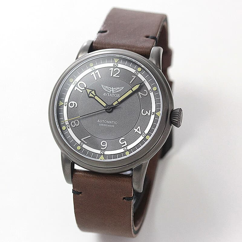 AVIATOR(アビエイター) DOUGLAS DAKOTA(ダグラス ダコタ) パイロットウォッチ V.3.31.7.229.4 ブラウンレザー 腕時計