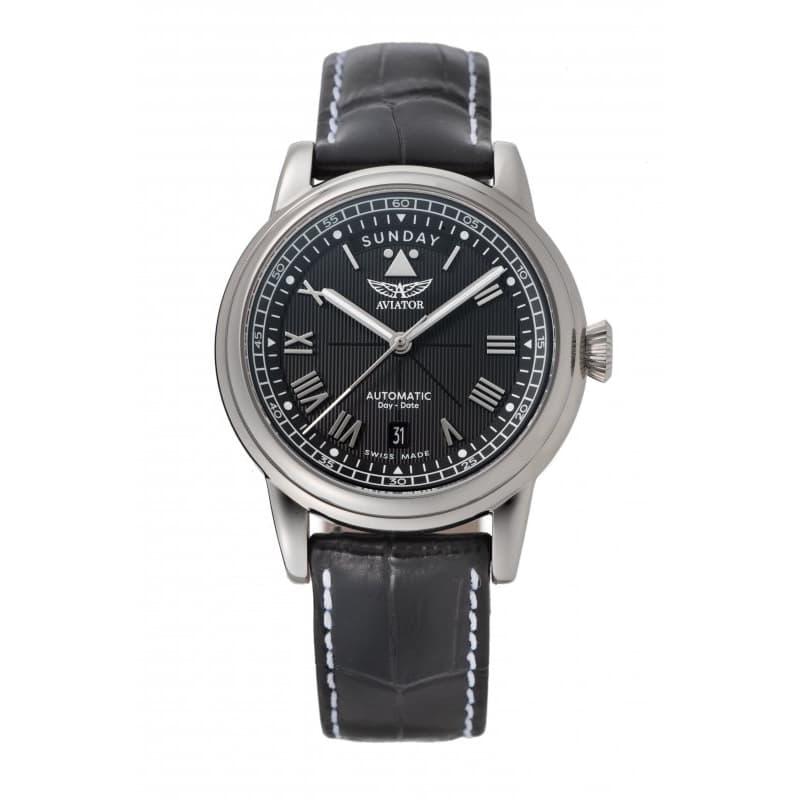 AVIATOR(アビエイター) DOUGLAS(ダグラス) デイデイト 41 自動巻き 腕時計 ブラック V.3.35.0.274.4