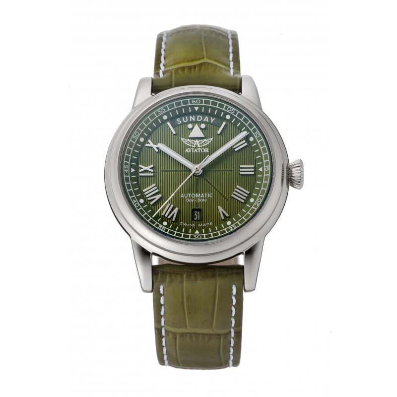 AVIATOR(アビエイター) DOUGLAS(ダグラス) デイデイト 41 自動巻き 腕時計 グリーン V.3.35.0.278.4