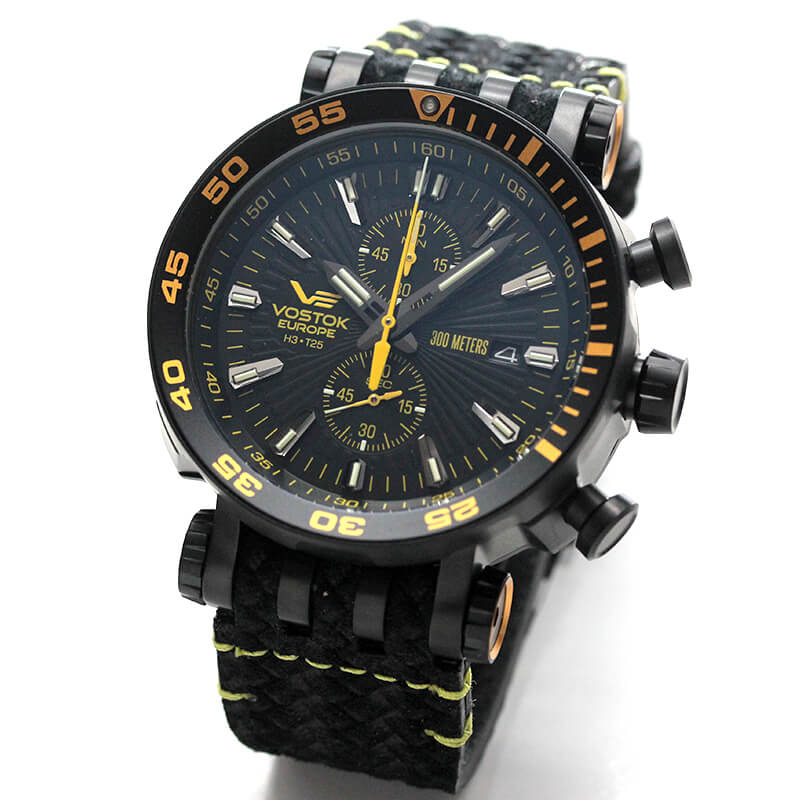 VOSTOK EUROPE(ボストーク ヨーロッパ) エネルギア-2 VK61-575C589 ブラック 腕時計