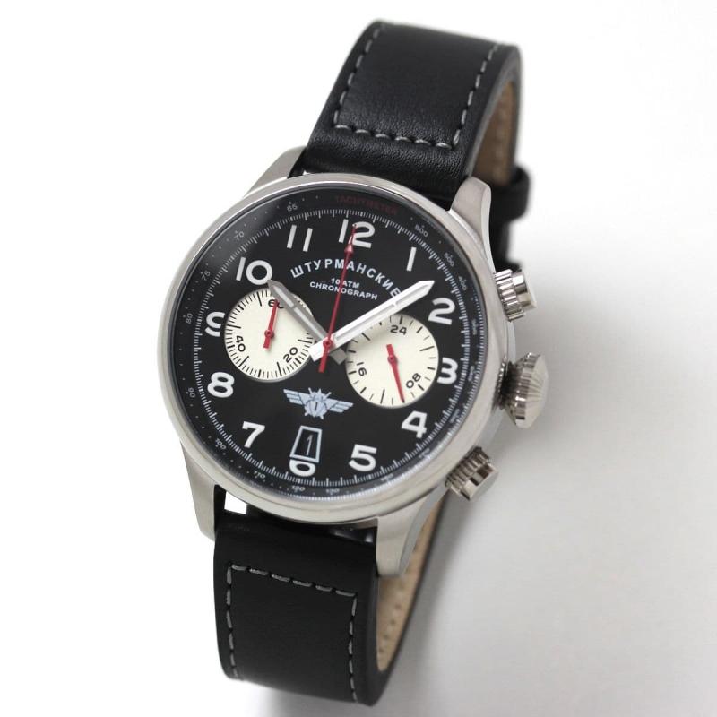 シュトゥルマンスキー(STURMANSKIE)/SPACE PIONEERS(スペースパイオニア)  クロノグラフ・クォーツ腕時計/VK64-3355853