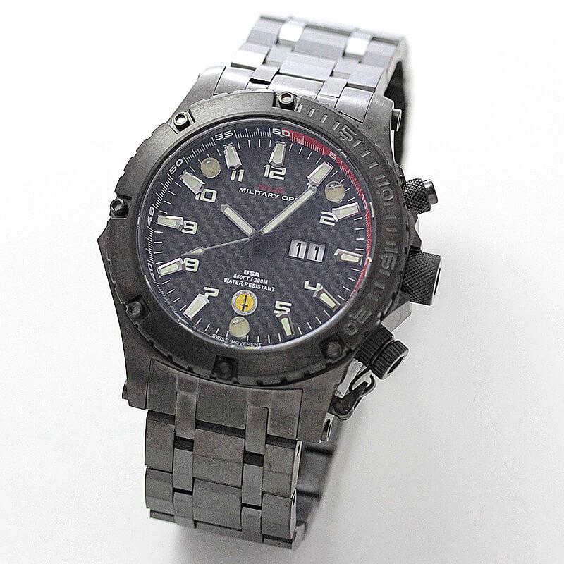 MTMミリタリーオプス/ヴァルチャー/ブラック/チタニウム/VUL-TBK-BKCB-MBT 腕時計