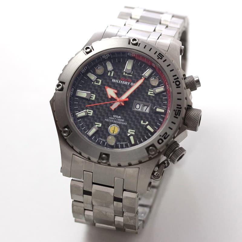MTMミリタリーオプス/ヴァルチャー/チタニウム/VUL-TSL-BKCB-MBTI 腕時計