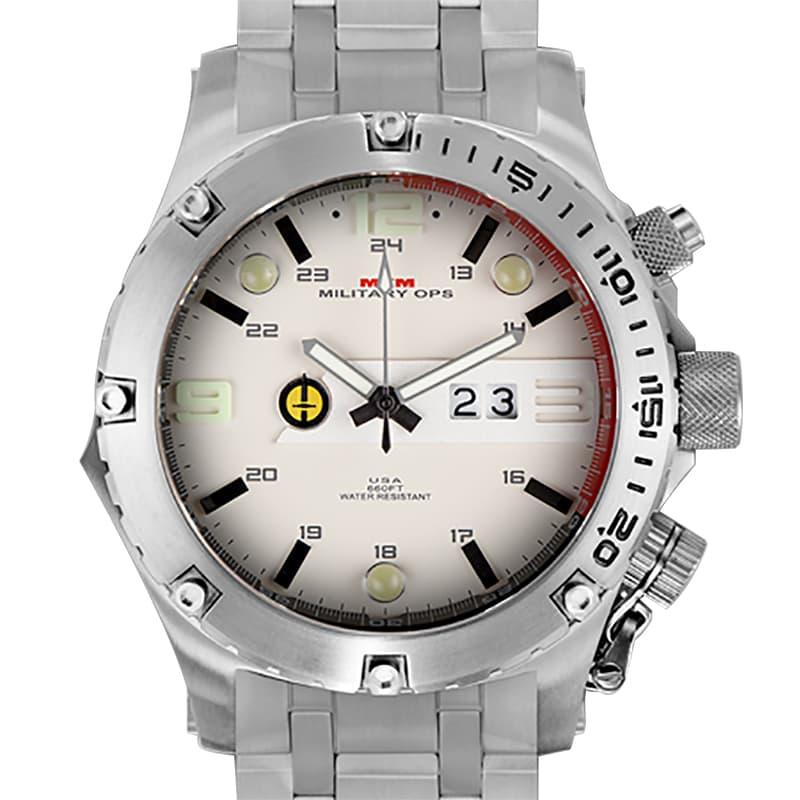 MTMミリタリーオプス/ヴァルチャー/シルバー/チタニウム/VUL-TSL-TAN1-MBTI/腕時計