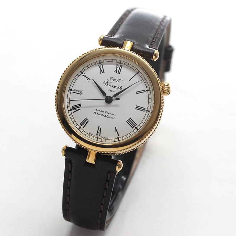 J&Tウィンドミルズ(Windmills)Thredneedle 18Kイエローゴールド 手巻き式 WLS20001-01 腕時計