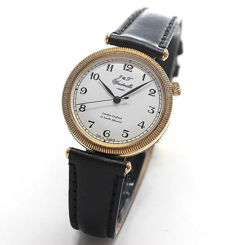 J&Tウィンドミルズ(Windmills)Thredneedle 18Kイエローゴールド 手巻き式 WLS20005-02 腕時計