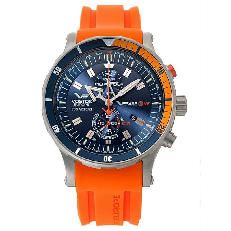 VOSTOK EUROPE(ボストーク ヨーロッパ) スペシャルエディション VEareONE プロジェクト限定ウォッチ オレンジ YM8J-510H434 腕時計