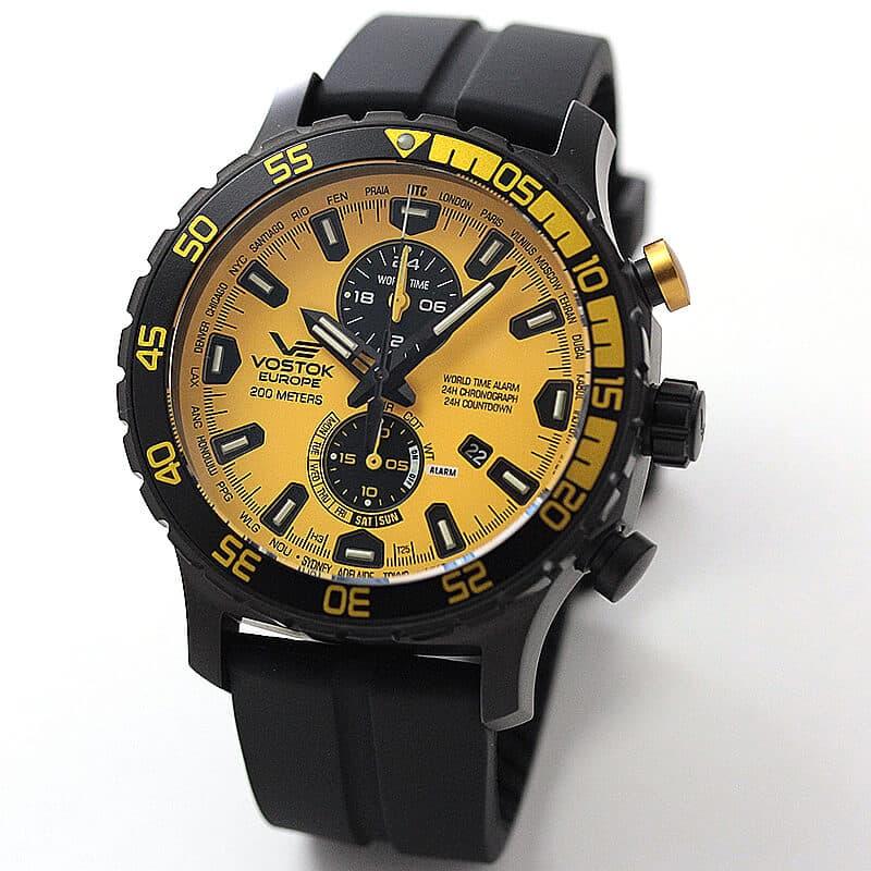 VOSTOK EUROPE(ボストーク ヨーロッパ) エクスピディション エベレスト アンダーグラウンド  YM8J-597C548 イエロー 腕時計
