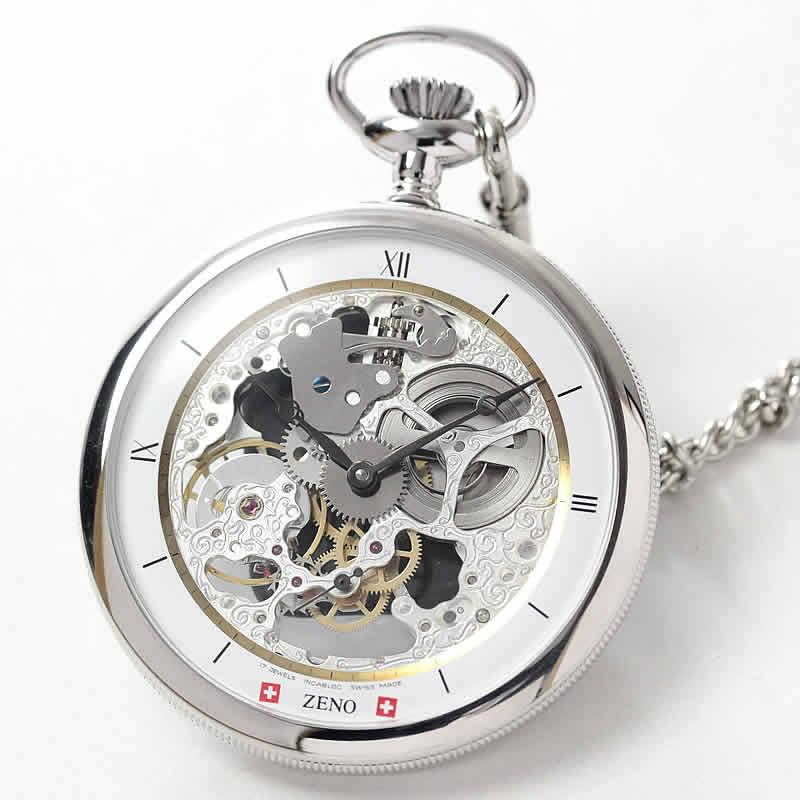 ZENO WATCH/ゼノウォッチ/懐中時計/手巻き式/ZT-L213S-i2 シルバーカラー