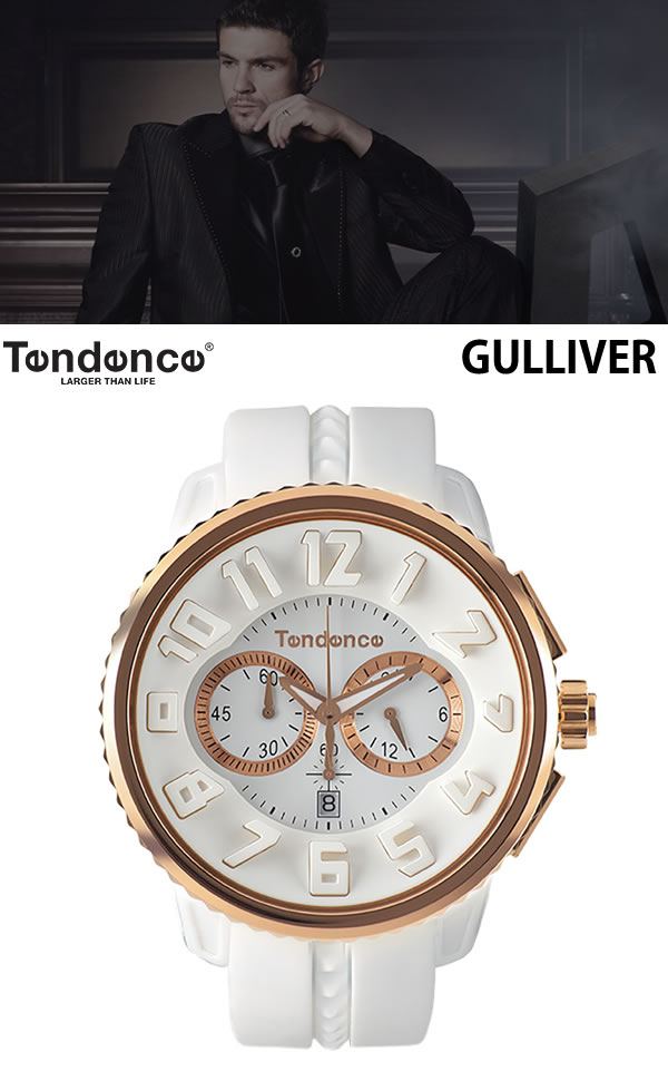 スイス発ブランド テンデンス Tendence ガリバー ラウンド腕時計