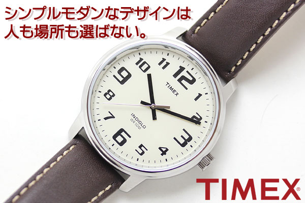 TIMEX タイメックス 腕時計 シンプルモダンなデザインは人も場所も選ばない。