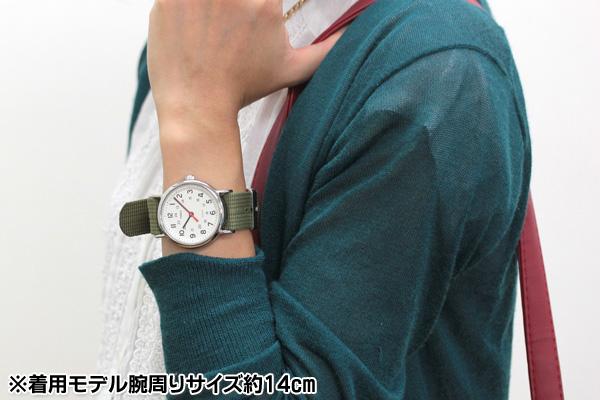タイメックス t2n651 着用モデル腕周りサイズ約14cm