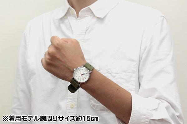 タイメックス t2n651 着用モデル腕周りサイズ約15cm