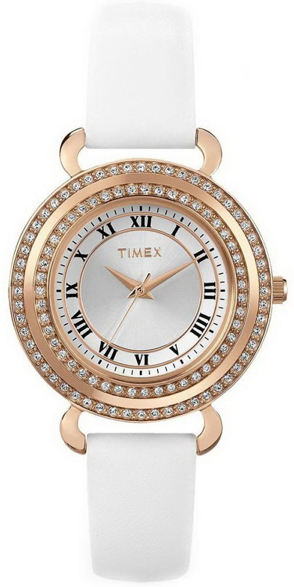 TIMEX(タイメックス)腕時計/クリスタルズ ローズゴールド レディース/T2P230