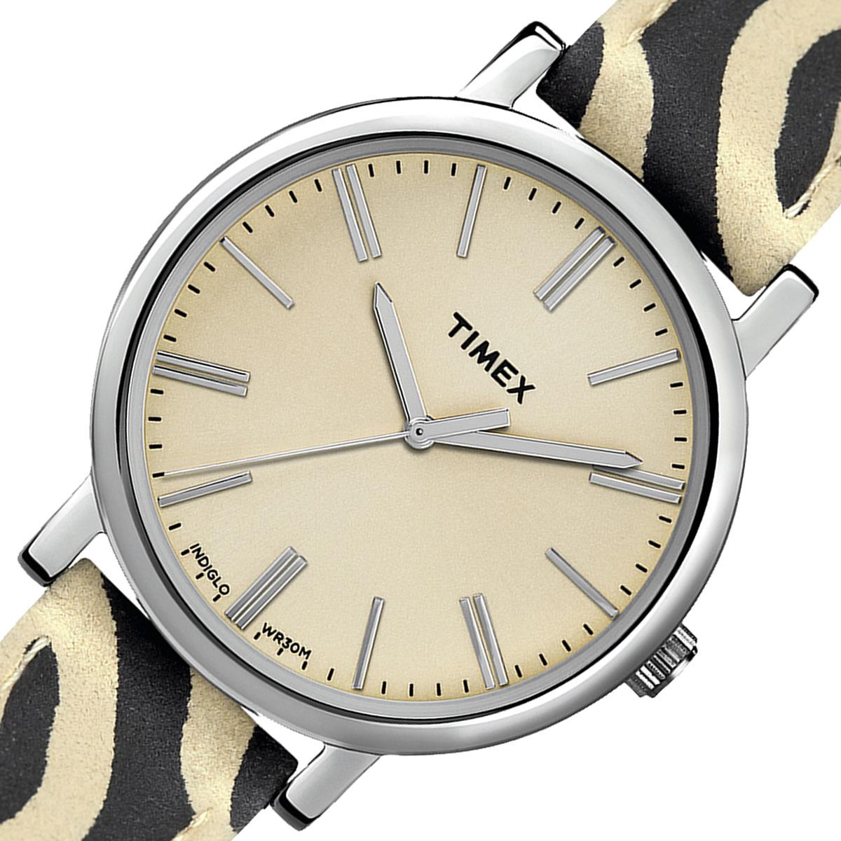 TIMEX Originals   オフホワイトカラーダイアル×ゼブラ柄ベルト TW2P69700