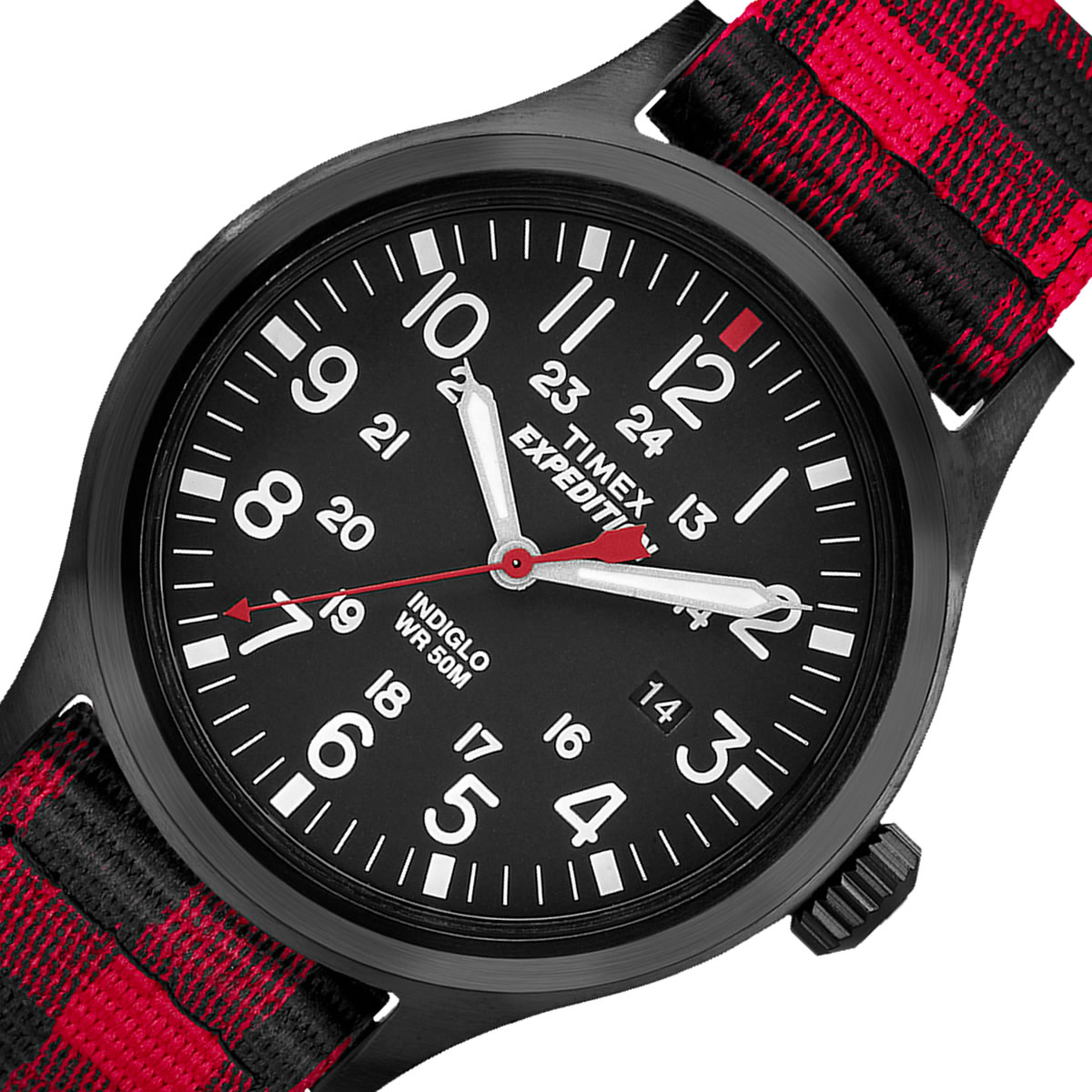 TIMEX Expedition  SCOUT バッファローチェックレッドストラップ 40mm TW4B02000