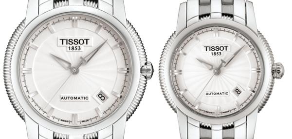 TISSOT(ティソ) T-CLASSIC BALLADE III ペアウォッチ 自動巻き 腕時計 T97.1.483.31-T97.1.183.31